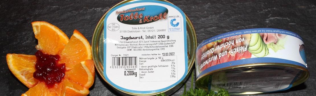 hausgemachte Jagdwurst